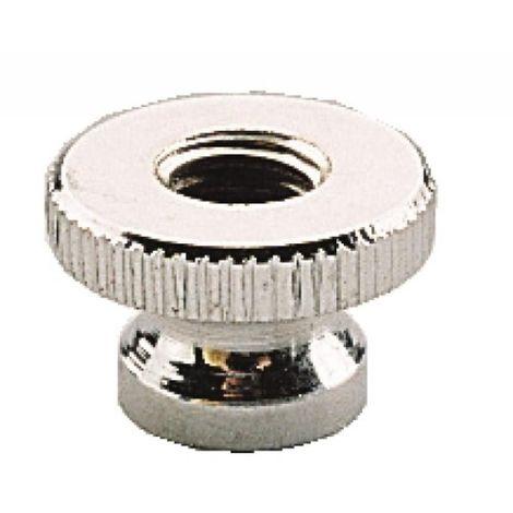 Écrous moletés laiton chromé, diamètre 6 mm, sachet de 10 pièces