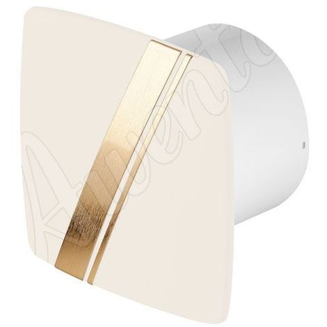 Ecru Kitchen Bathroom Wall Extractor Fan 100mm Awenta LINEA Style Standard