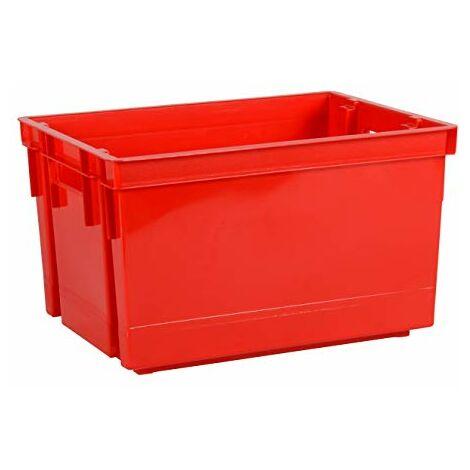 EDA 10713 R BAC MANUTENTION 20L Superposable, polypropylène, Rouge, Dim. : 39 x 29 x 23 cm