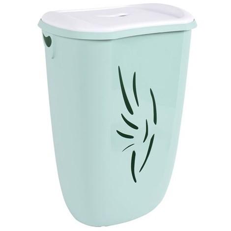 EDA - Coffre à linge avec couvercle Flora - 40 L - vert d\'eau