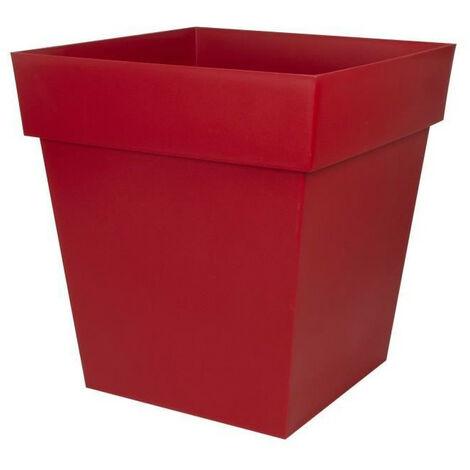 EDA Pot carré Toscane - 50 cm - 87 L - Rouge