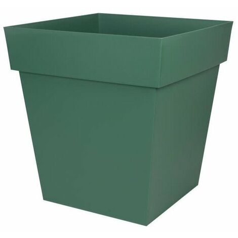 EDA Pot carré Toscane - 50 cm - 87 L - Vert Jungle