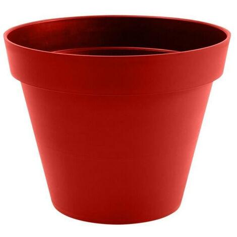 """main image of """"EDA Pot de fleur rond Toscane - Ø 60 x H 47 cm - 76 L - Rouge rubis"""""""