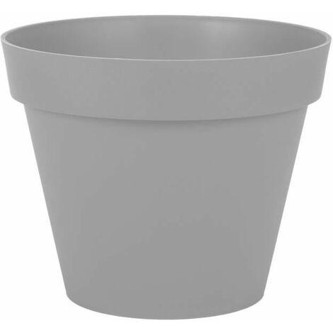EDA Pot rond Toscane - 30 cm - 10 L - Gris béton