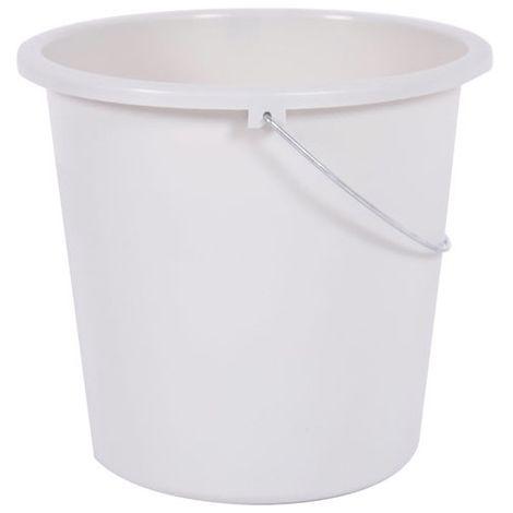 EDA - Seau de ménage - D: 28 cm - 10 L - blanc cérusé