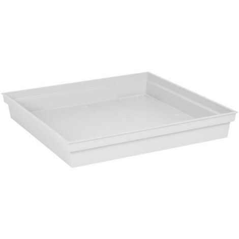 EDA Soucoupe carrée Toscane - 40 cm - Blanc