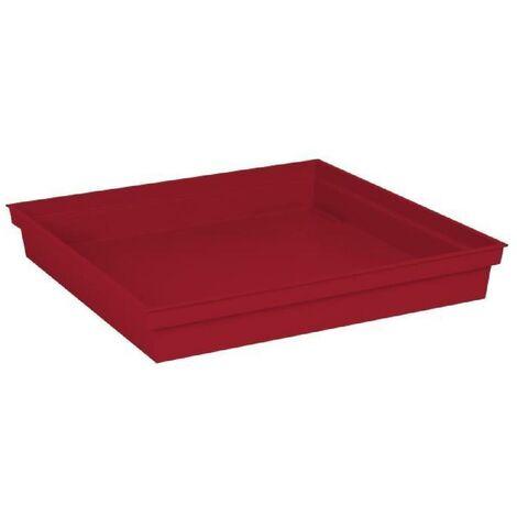 EDA Soucoupe carrée Toscane - 40 cm - Rouge