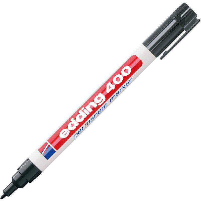 Image of 4-400-1-1001 400 Permanent Marker Fine Bullet Tip 1mm Black - Edding