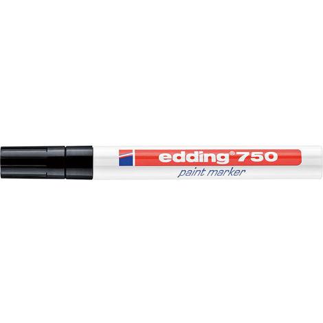 2-st/ück edding 750 Lackmarker mit Rundspitze schwarz und wei/ß
