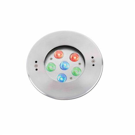 EDEL Lámpara empotrable piscina - Níquel mate - RGB
