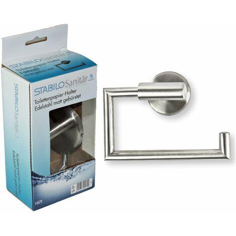 Edelstahl Bad Toilettenpapierhalter gebürstet WC Rollenhalter Klopapierhalter