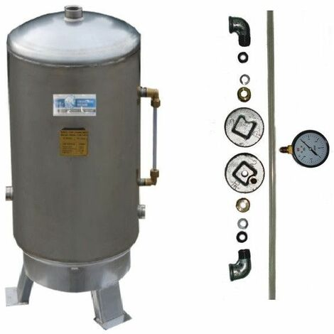EDELSTAHL Druckkessel 80-600L stehend 6 bar Druckbehälter Zubehör Hauswasserwerk