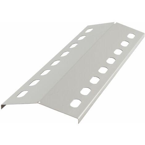 Edelstahl Flammenverteiler, Brennerabdeckung, 43,5 x 15 cm
