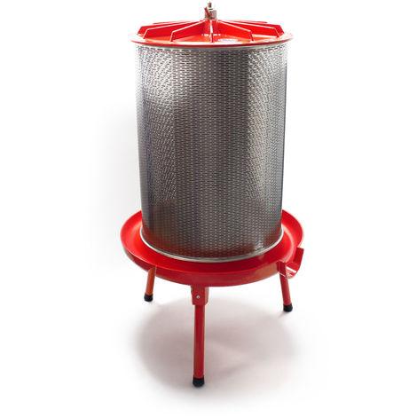 Edelstahl Hydropresse mit 40 Liter Korbinhalt, Wasserdruckpresse mit 3 bar zum Pressen von Obst