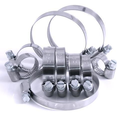 W4 DIN 3017 50 Stück Schlauchschellen Edelstahl A2 Band 12 mm 25-40 mm