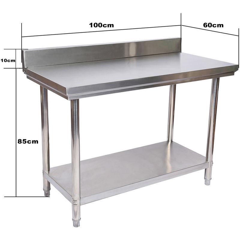 Arbeitstisch 1200 x 600 x 850 mm Edelstahl Freistehend Großküche Gastronomie