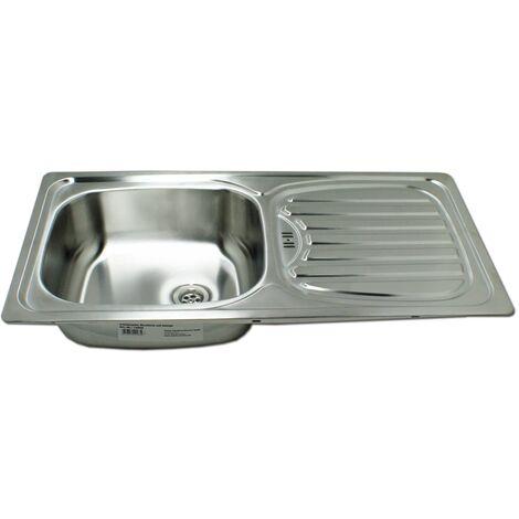 Edelstahl Waschbecken Spüle Einbauspüle Spülbecken Küchenspüle rechteckig
