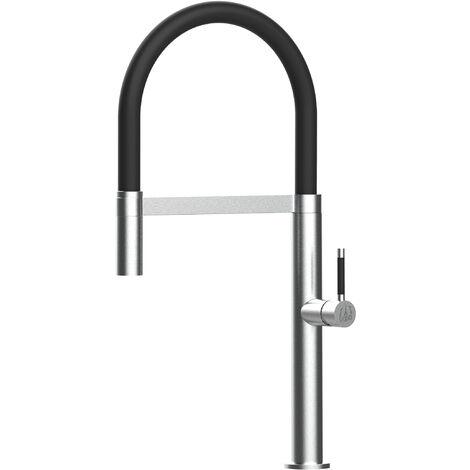 Edelstahl Wasserhahn Kueche Spueltischarmatur Kuechenarmatur mit 360 schwenkbarem Auslauf und abnehmbare Handbrause