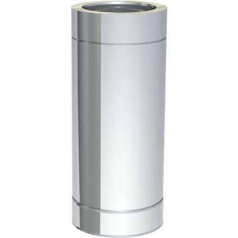 Edelstahlschornstein doppelwandig DN150 Reinigungselement Abgas Rohr 0,5 mm Kamin Rauchrohr