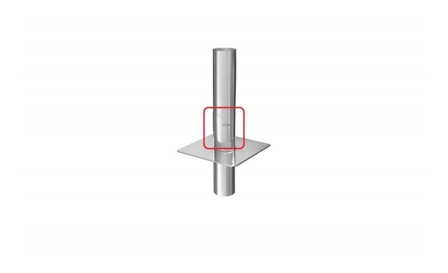 0,5 mm Schornsteinverl/ängerung Kaminverl/ängerung doppelwandig DW 200 H/öhe 2,0 m