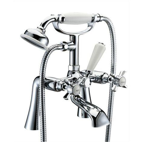 Eden Chrome Bath Shower Mixer & Shower Kit