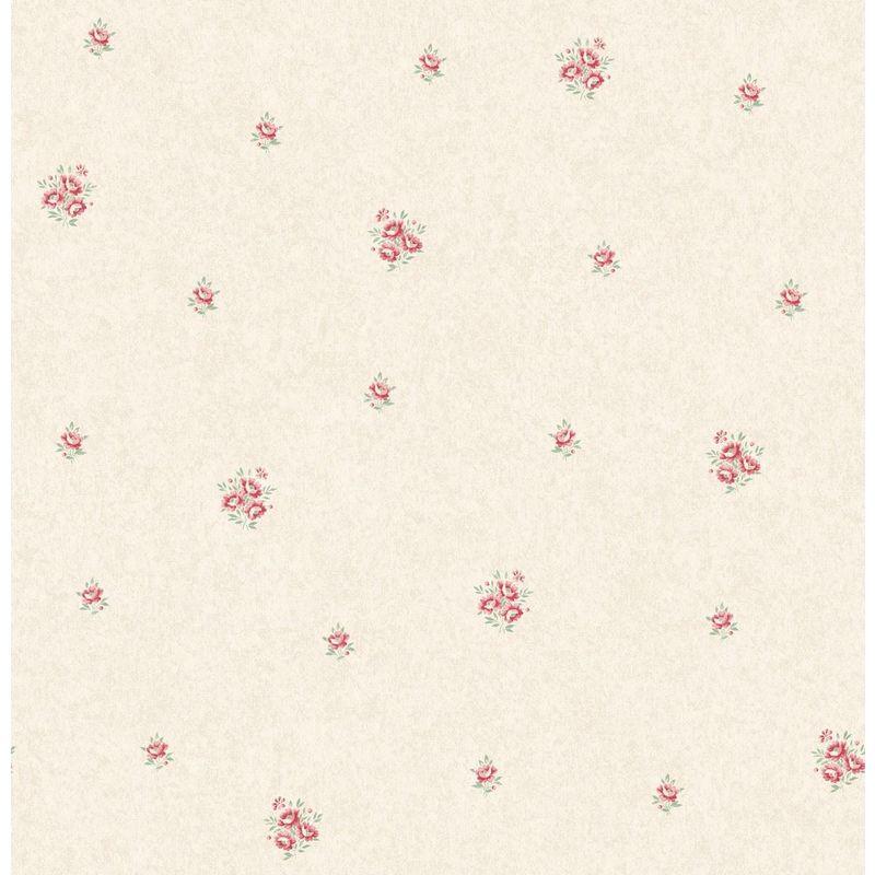 Image of Flower Floral Wallpaper Pink Metallic Mica Shimmer Country Holden - Eden Hall