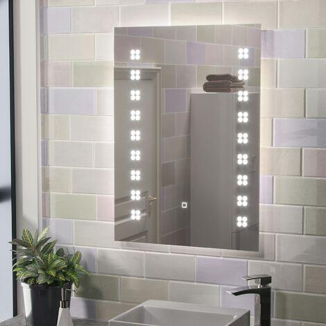 Eden Illuminated LED Mirror with Shaver Socket and Demist