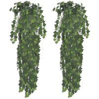 Edera Artificiale Verde 2 Cespugli 90 cm
