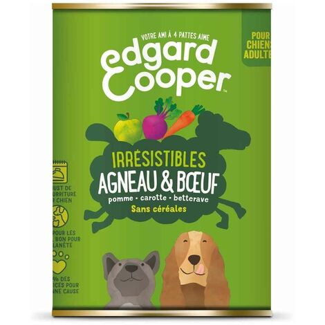 Edgard & Cooper - Boîte à l'Agneau et Bœuf pour Chien - 400g
