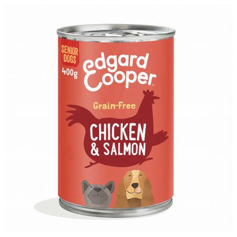 Edgard & Cooper, latas sin cereales con pollo y salmón para perros senior Lata de 400 gr
