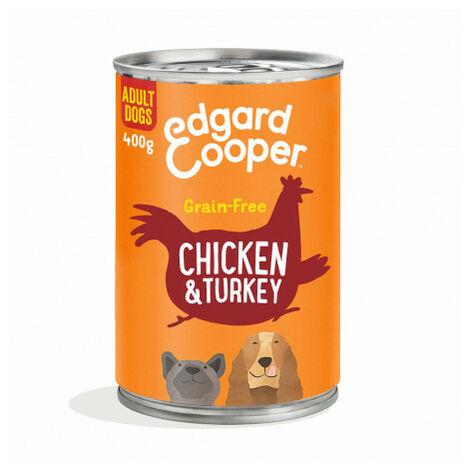 Edgard & Cooper, latas sin cereales con vacuno para perros adultos Lata de 400 gr