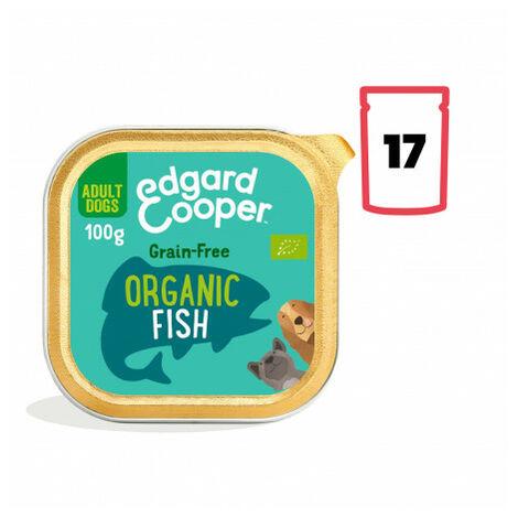 Edgard & Cooper, pack 17 tarrinas sin gluten con pescado ecológico para perros adultos Pack 17 uds