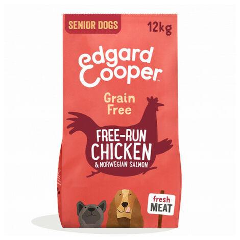 Edgard & Cooper, pienso sin cereales con pollo y salmón frescos para perros senior Saco de 12 Kg