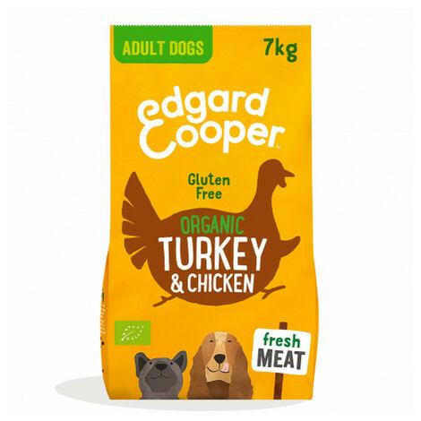 Edgard & Cooper, pienso sin gluten con pavo y pollo ecológicos y fresco spara perros adultos Saco de 7 Kg