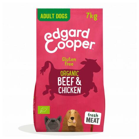 Edgard & Cooper, pienso sin gluten con vacuno y pollo ecológico y frescos para perros adultos Saco de 7 Kg