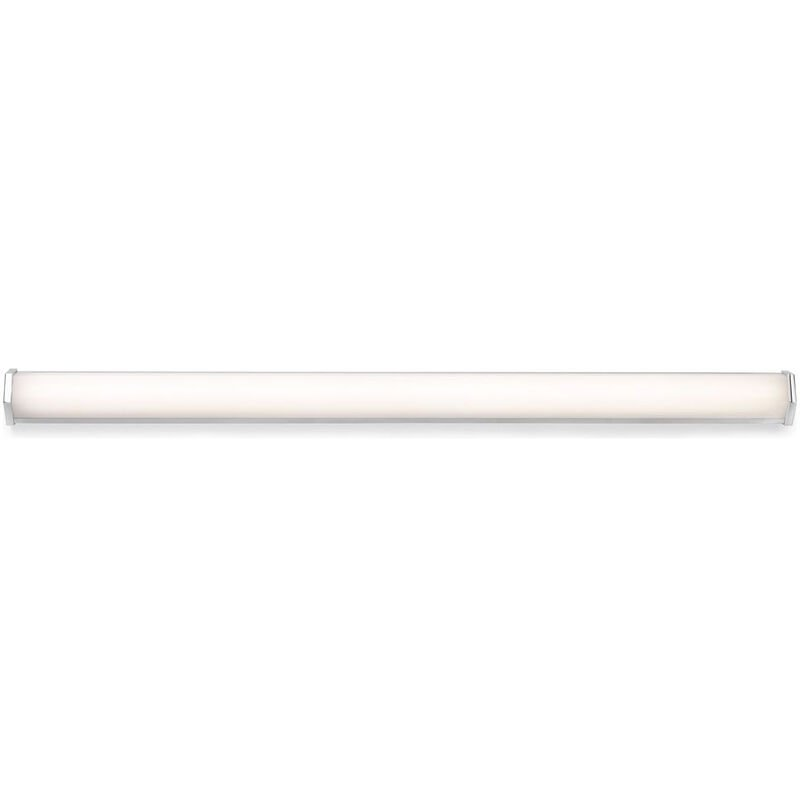 LED Badezimmer Wandleuchte Edge aus Metal in Chrom IP44 300mm