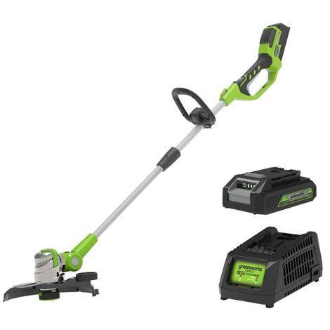 Edge trimmer 25-30cm GREENWORKS 24V - 1 battery 2.0 Ah - 1 charger - G24LT30MK2