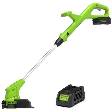 Edge trimmer 30cm GREENWORKS 24V - 1 battery 2,0 Ah - 1 charger - G24LTK2