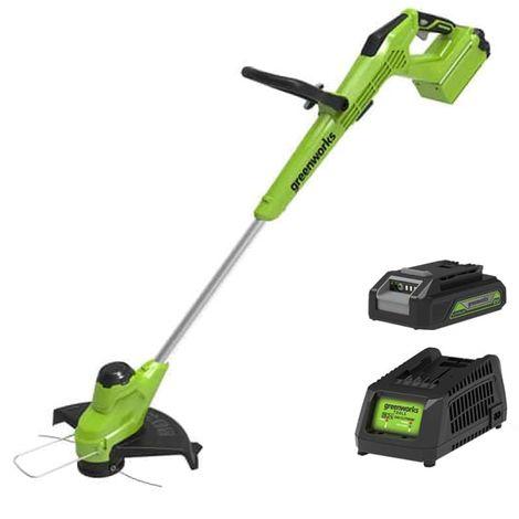Edge trimmer 30cm GREENWORKS 40V - 1 battery 2.0 Ah - 1 charger - G40T5K2
