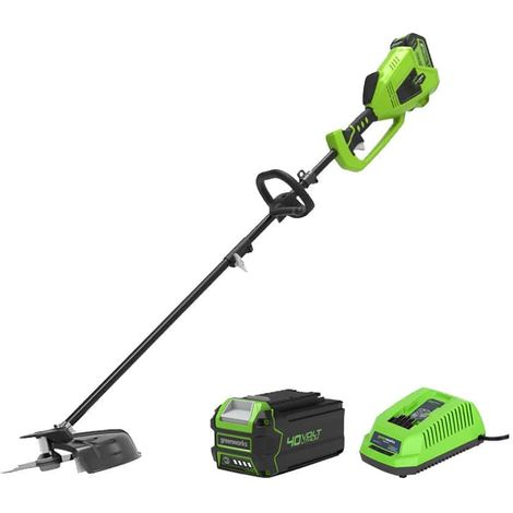 Edge trimmer 40cm GREENWORKS 40V - 1 battery 4.0 Ah - 1 charger - GD40BCK4