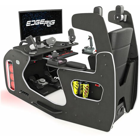 EdgeRig Sim Rig Gaming Chair Cockpit - Compatible with PC, PS4 and xBox