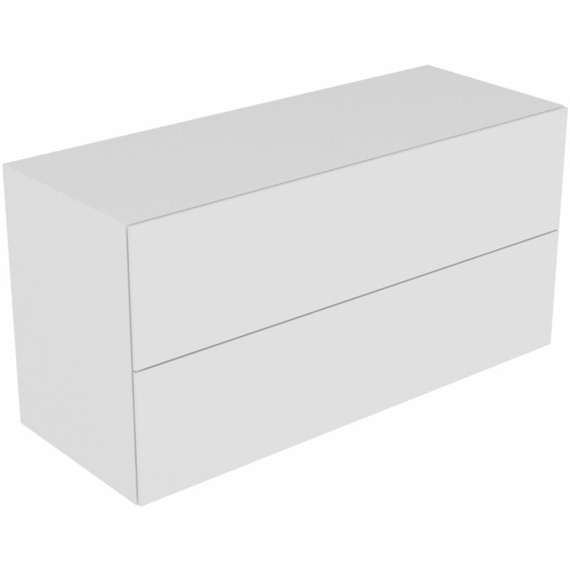 Edition 11 Sideboard 31327, 2 Frontauszüge, mit LED-Innenbeleuchtung, 1400 x 700 x 535 mm, Korpus/Front: Weiß Lack Hochglanz / Weiß Lack Hochglanz