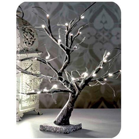 EDM Arbol 3d sakura nevado 45cm blanco calido (funciona a pilas 3xaa) interior edm
