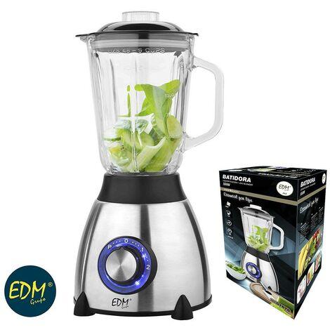 EDM Batidora con vaso de cristal - 550w - 1,5 litros - edm