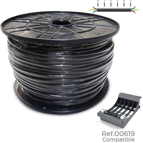 EDM Carrete manguera acrilica 3x4mm negra 0,61kv bobina 100m (bobina grande ø400x200mm)