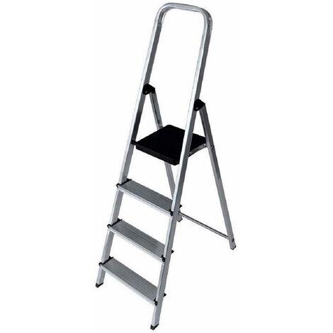 EDM Escalera domestica aluminio 4 peldaños edm