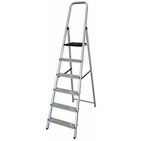 EDM Escalera domestica aluminio 6 peldaños edm