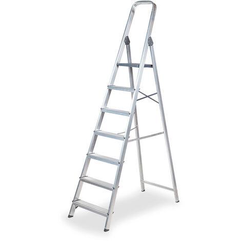 EDM Escalera domestica aluminio 7 peldaños edm