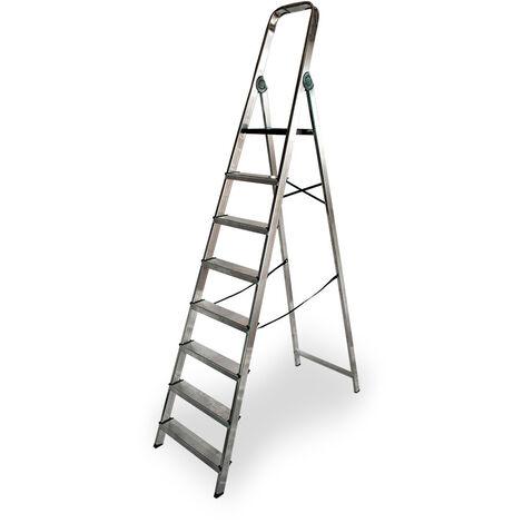 EDM Escalera domestica aluminio 8 peldaños edm