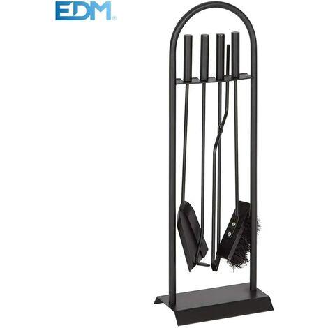 EDM Kit chimenea 4 piezas negro 68 Cm